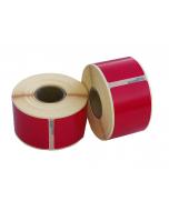 Seiko SLP-2RLE kompatible Etiketten, 89mm x 36mm, 260 Etiketten, permanent, rot