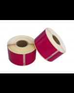 Seiko SLP-SRL kompatible Etiketten, 101mm x 54mm, 220 Etiketten, permanent, pink