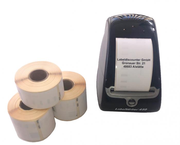 Betere Dymo S0722410 kompatible Etiketten, 89mm x 36mm, 260 Etiketten PD-87