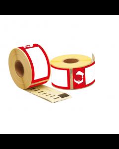 "Dymo 99012/ S0722400 kompatible Etiketten ""Weihnachtsmann"", 89mm x 36mm, 260 Etiketten pro Rolle, permanent"