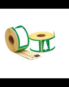 """Dymo 99012/ S0722400 kompatible Etiketten """"Weihnachtsbaum"""", 89mm x 36mm, 260 Etiketten pro Rolle, permanent"""