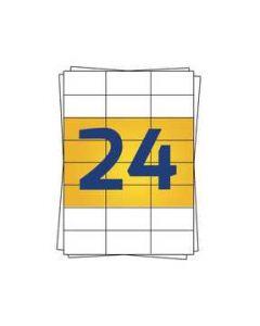 Avery 3475 kompatible A4 Etiketten, 70mm x 36mm, 2400 Stück pro Packung