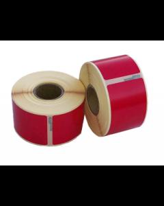 Dymo 99010/ S0722370 kompatible Etiketten, Format 89mm x 28mm, 260Etiketten pro Rolle, permanent, rot
