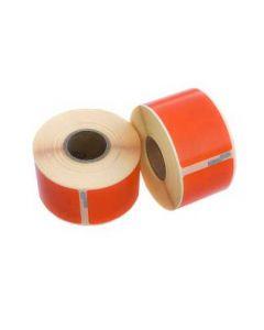 Dymo 99014/ S0722430 kompatible Etiketten, Format 101mm x 54mm, 220 Etiketten pro Rolle, permanent, orange