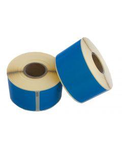 Dymo 99014/ S0722430 kompatible Etiketten, Format 101mm x 54mm, 220 Etiketten pro Rolle, permanent, blau