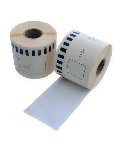Brother DK-11202 kompatible Etiketten, Format 62mm x 100mm, 300 Etiketten pro Rolle, permanent, weiß