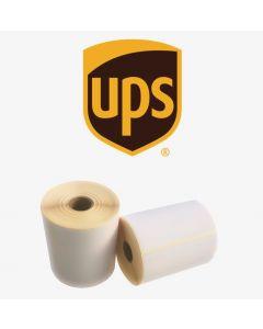 CAB UPS Versandetiketten kompatibel, Format 102mm x 150mm, ECO, 300 Etiketten, weiß, 25 Kern, permanent