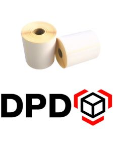 Thermische VersandEtiketten DPD, DPD Label, 102mm x 150mm, ECO, 300 Etiketten, weiß, 25mm Kern, permanent