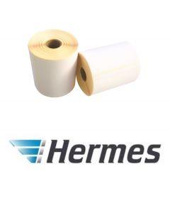 Zebra kompatible Hermes Etiketten, 102mm x 210mm, 640 Etiketten, weiß, 76mm Kern, permanent