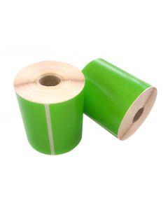 Thermische VersandEtiketten, 102mm x 150mm, 280 Etiketten, 25mm Kern, permanent, grün
