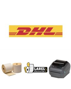 Kombi-Paket DHL: Zebra GK420D Ethernet Drucker + 12 Rollen 102mm x 210mm