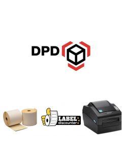 Kombi-Paket DPD: Bixolon SLP-DX420G Ethernet Drucker + 12 Rollen 102mm x 150mm