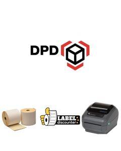 Kombi-Paket DPD: Zebra GK420D Ethernet Drucker + 12 Rollen 102mm x 150mm