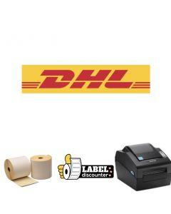 Kombi-Paket DHL: Bixolon SLP-DX420G Ethernet Drucker+ 12 Rollen 102mm x 210mm