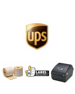 Kombi-Paket UPS: Zebra ZD220D + 1000 Etiketten 102mm x 150mm