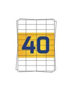 Avery 3651 kompatible A4 Etiketten, 52,5mm x 29,7mm, 4000 Stück pro Packung