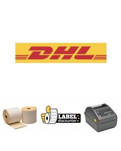 Kombi-Paket DHL: Zebra ZD420D Ethernet Drucker + 12 Rollen 102mm x 210mm