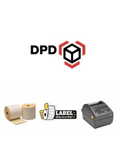 Kombi-Paket DPD: Zebra ZD420D Ethernet Drucker + 12 Rollen 102mm x 150mm