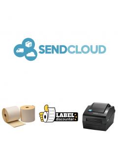 Kombi-Paket SendCloud: Bixolon SLP-DX420G Ethernet Drucker + 12 Rollen 102mm x 150mm