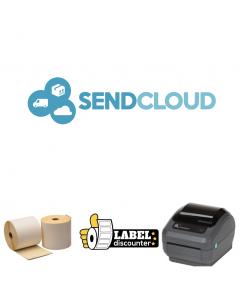 Kombi-Paket SendCloud: Zebra GK420D Ethernet Drucker + 12 Rollen 102mm x 150mm