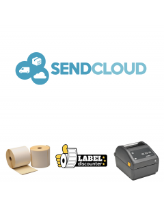 Kombi-Paket SendCloud: Zebra ZD420D Ethernet Drucker + 12 Rollen 102mm x 150mm